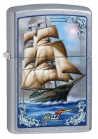 Zippo Mazzi Tall Ship Pocket Lighter