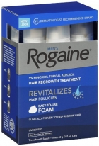 Rogaine for Men Hair Regrowth Treatment, 5 percents Minoxidil Topical Aerosol, Easy-to-Use Foam, 2.11 Ounce