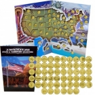 Gold Plated State Quarters Collection w/ Folder