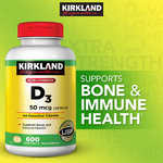 Kirkland Signature - Vitamin D3 2000 IU, 600 Softgels