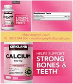 Kirkland Signatures Calcium 600 mg_D3, 500 Tablets