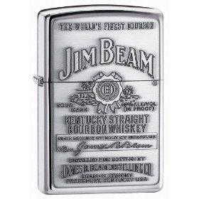 Zippo Jim Beam Pewter Emblem Pocket Lighter