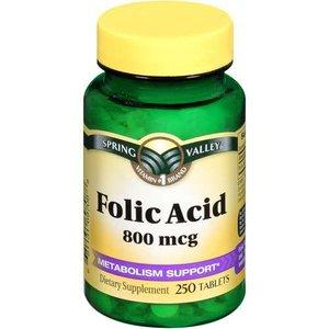 Spring Valley Folic Acid 800 mcg, 250ct