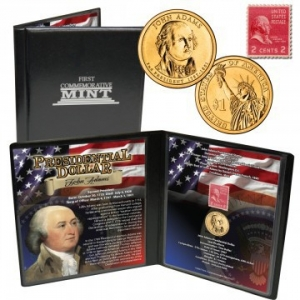 2007 24k GP Adams Dollar & Stamp Collection