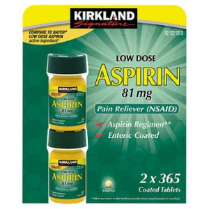 Kirkland Signarures Low Dose Enteric Coated Aspirin 81 mg - 365 viên