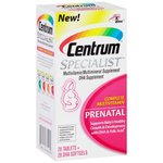 Centrum Specialist Adult (56 Count) Multivitamin / Multimineral Supplement Tablets & Softgels, With DHA, Vitamin D3, & Folic Acid