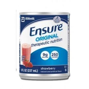 Ensure Original Strawberry, 8 Ounce Cans, Therapeutic Nutrition, Abbott 50648 - Case of 24