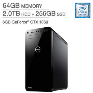 Dell XPS 8930 Tower - Intel Core i7 - GeForce GTX 1060 - Windows 10 Pro