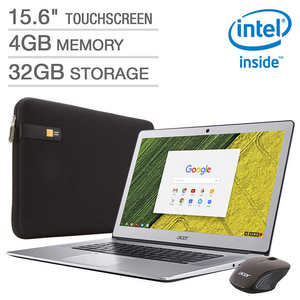 "Acer 15.6"" Touchscreen Chromebook Bundle - Intel Pentium - 1080p"