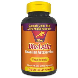 BioAstin Hawaiian Astaxanthin Vegan - 12mg 75ct