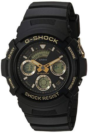 Casio Men´s ´G Shock´ Quartz Resin Casual Watch, Color:Black (Model: AW-591GBX-1A9CR)