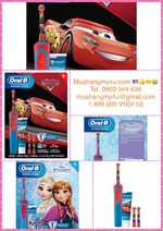 Oral-B Kids Disney´s Frozen or Cars Rechargeable Electric Toothbrush Bundle Pack