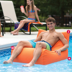 Aruba Inflatable Pool Float Orange 2-pack