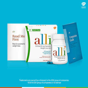 alli Orlistat 60 mg. Weight Loss Aid, 170 Capsules