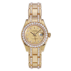 Rolex Pearlmaster Yellow Gold & Diamonds Ladies Automatic Watch