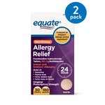 Equate Allergy Relief Fexofenadine Tablets, 180 mg, 30 Ct (2 Pack)