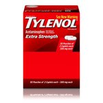 TYLENOL® Extra Strength Caplets, Fever Reducer and Pain Reliever, 500 mg, 50 ct., Pack of 2
