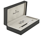 PICASSO AND CO Rhodium Plated Ballpoint Pen and Cufflink Set
