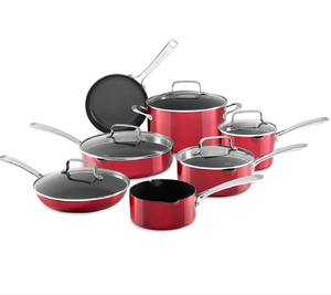 KitchenAid - Architect® 12-Pc. Non-Stick Pour & Strain Cookware Set