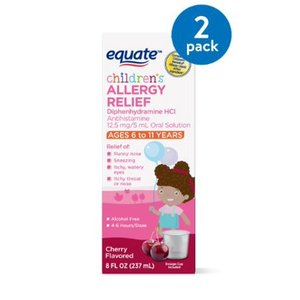 Equate Children´s Allergy Relief, Cherry, 8 Fl Oz - 2 pack