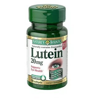 Nature' s Bounty Lutein 20 mg Dietary Supplement Softgels - 30 viên