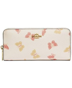 COACH Butterfly Print Accordion Zip Wallet