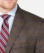 Lauren Ralph Lauren - Men's Classic-Fit UltraFlex Stretch Light Brown Plaid Sport Coat