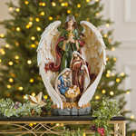 "18"" Decorative Angel with Holy Family"