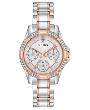 Bulova - Women's Crystal Two-Tone Stainless Steel Bracelet Watch 32mm