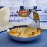 Towle Hammersmith Gooseneck Tiered Chip & Dip Server