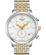 Tissot Men´s Swiss Chronograph Tradition Two-Tone Stainless Steel Bracelet Watch 42mm T0636172203700
