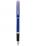 Waterman Hemisphere Bright Blue Palladium Trim Fountain Pen