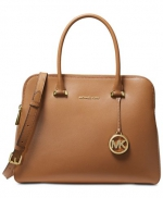 MICHAEL Michael Kors -  Houston Double Zip Crossgrain Leather Satchel