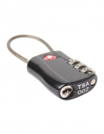 Home life - 2 x TSA Approved Combination Cable Luggage Locks in Black