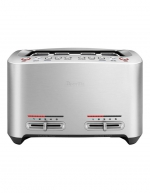 Breville - the Smart Toast 4 Slice Toaster Brushed Stainless Steel BTA845BSS