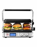 Delonghi - 3 in 1 Digital Benchtop Multi Grill: Stainless Steel CGH1012D
