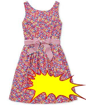 Polo Ralph Lauren - Big Girls Floral-Print Fit & Flare Dress
