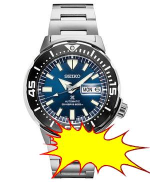 Seiko - Men's Automatic Prospex Diver Stainless Steel Bracelet Watch 42.4mm