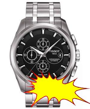 Tissot - Men´s Swiss Automatic Chronograph T-Sport Couturier Stainless Steel Bracelet Watch 43mm