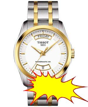 Tissot - Men's Swiss Automatic Couturier Powermatic 80 Two-Tone Stainless Steel Bracelet Watch 39mm T0354072201101